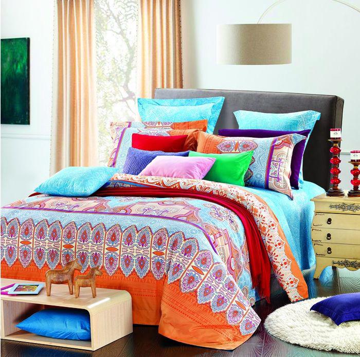 Комплект постельного белья Guten Morgen Плиссе, Ф-609-143-150-50, разноцветный, 1,5 спальный, наволочки 50x70