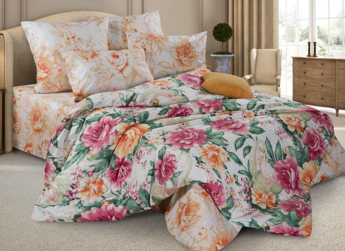 Комплект постельного белья Guten Morgen Перкаль, П-637/3-175-180-50, светло-коричневый, 2-х спальный, наволочки 50x70