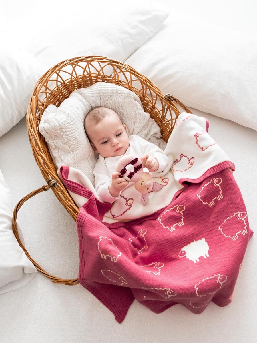 Фото - Детский плед Cloudlet CH1, CH1_грязно-розовый, темно-розовый пледы и полотенца