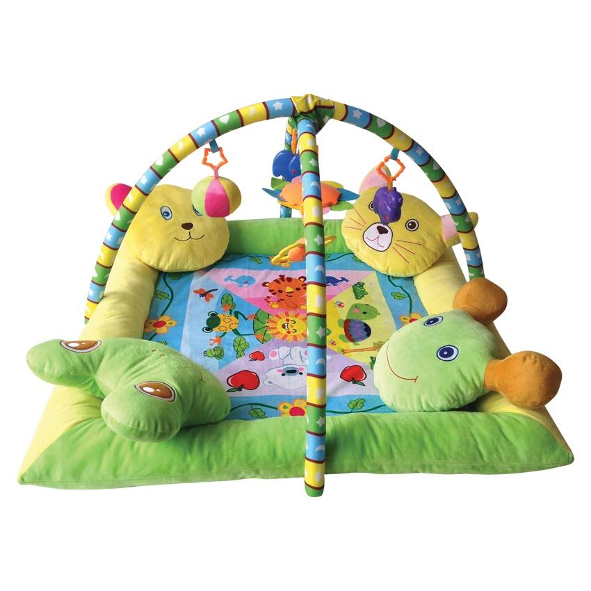 Развивающий коврик Lorelli Toys Развивающий коврик Lorelli Toys, с 4 подушечками, 80 х 80 см, 1030036 крепёж на каску petzl helmet mount adapt