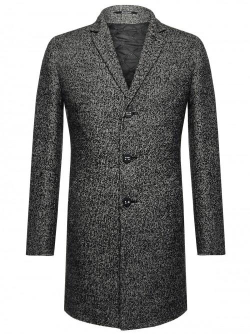 Пальто Berkytt 9106214;46-176, светло-серый 46-176 размер9106214Пальто мужское силуэта Slim-Fit, рукав втачной со шлицей, застежка однобортная на 3 пуговицы, карман листочка с втачными концами, воротник пиджачного типа. В среднем шве спинки шлица. Подкладка утепленная.
