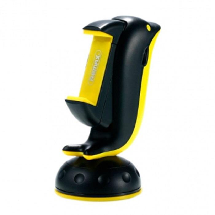 Автомобильный держатель Remax на стекло/панель RM-C20, черный, желтый