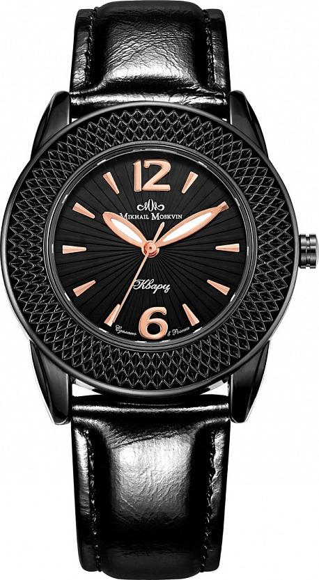 Часы Mikhail Moskvin 1147A11L2-11147A11L2/1Элегантные женские часы Mikhail Moskvin Каприз изготовлены из нержавеющей стали, натуральной кожи и минерального стекла. Циферблат часов оформлен арабскими цифрами и отметками золотистого цвета, а также символикой бренда. Корпус часов оснащен кварцевым механизмом, который имеет степень влагозащиты равную 3 Bar, устойчивым к царапинам минеральным стеклом, стрелками с светящимся составом. Ремешок часов оснащен классической пряжкой, которая позволит с легкостью снимать и надевать изделие. Часы поставляются в фирменной упаковке. Часы Mikhail Moskvin Каприз подчеркнут изящность женской руки и отменное чувство стиля у их обладательницы.