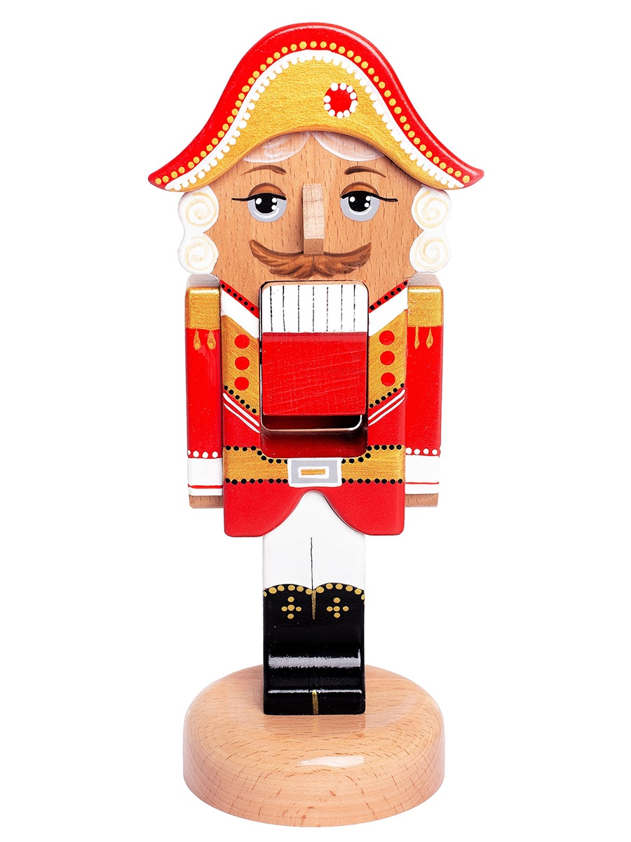 Кукла BochArt Щелкунчик-орехокол, NUT102Red красный