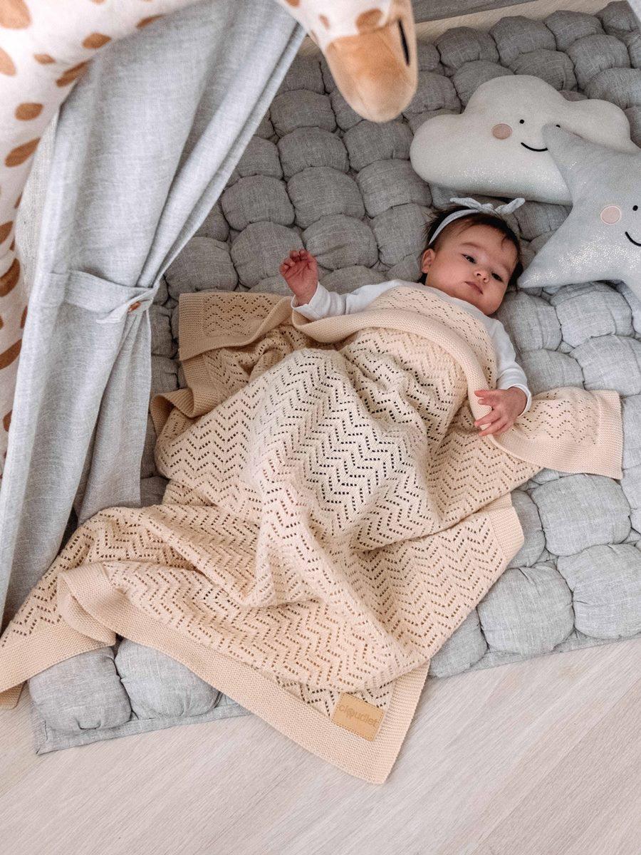 купить Детский плед Cloudlet PLEDPH6, PLEDPH6_молочный, кремовый по цене 3200 рублей