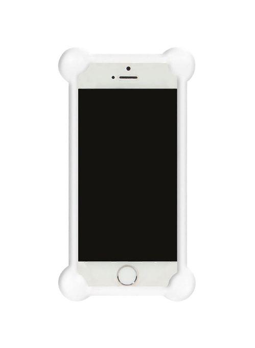 Чехол для сотового телефона IQ Format Бампер силиконовый универсальный 3,5-4,7, 4627104422437, белый бампер силиконовый iq format дисней лукас минни 2