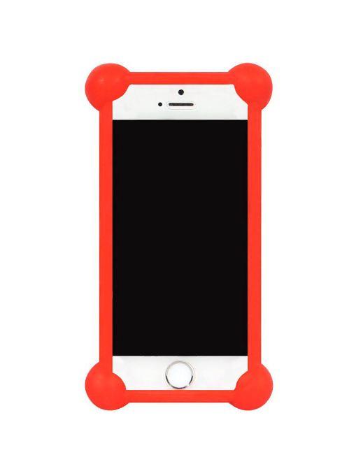 Чехол для сотового телефона IQ Format Бампер силиконовый универсальный 3,5-4,7, 4627104422444, красный бампер силиконовый iq format дисней лукас минни 2