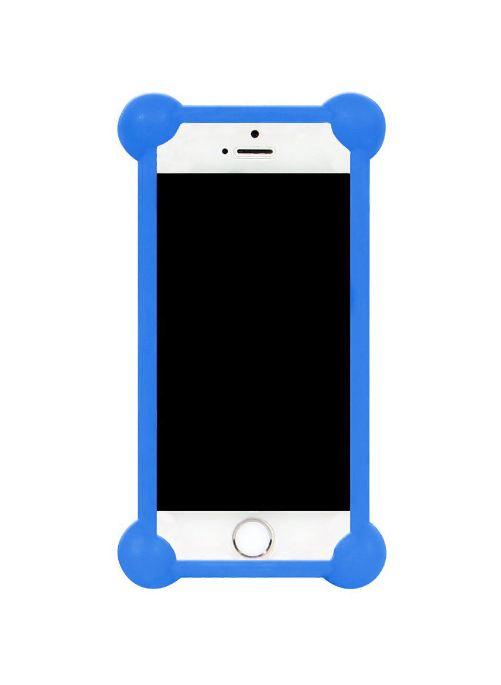 Чехол для сотового телефона IQ Format Бампер силиконовый универсальный 3,5-4,7, 4627104422451, синий бампер силиконовый iq format дисней лукас минни 2