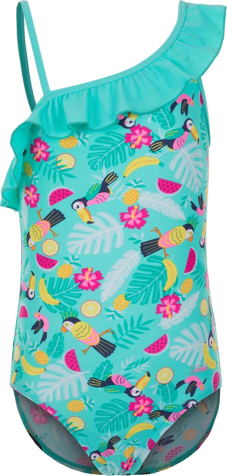Купальник слитный для девочки Joss Girls Swimsuit, цвет: бирюзовый. S17AJSWSG03-N1. Размер 116S17AJSWSG03-N1Удобный купальник предназначен для тренировок в бассейне. Продуманный крой не стесняет движений.
