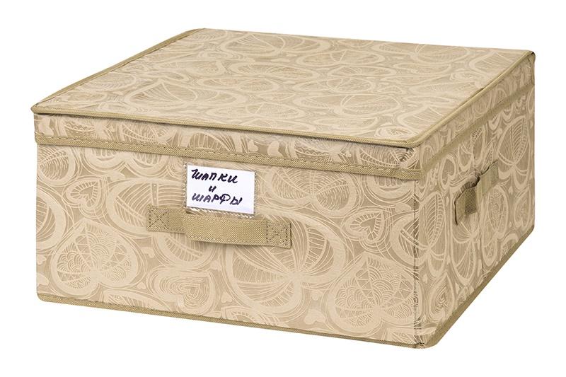 Кофр для хранения вещей EL Casa Золотое сердце, 680112, бежевый кофр для хранения вещей el casa золотое сердце 680112 бежевый