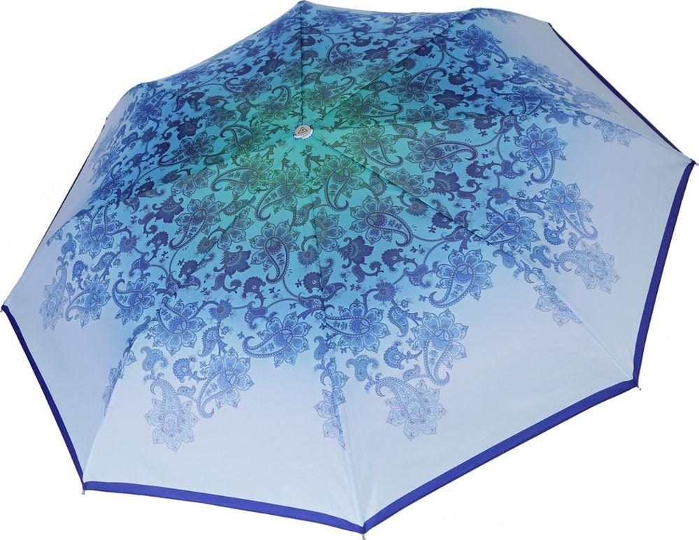 Зонт женский Fabretti, L-19121-1, голубой пике женский mk2573 03 голубой