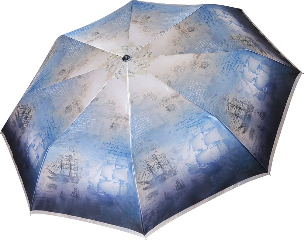 Зонт женский Fabretti, S-19101-6, голубой пике женский mk2573 03 голубой