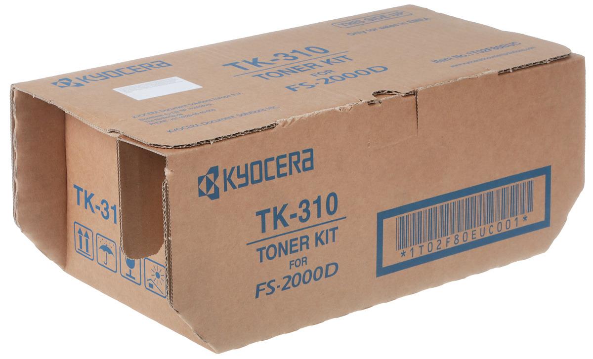 Картридж Kyocera TK-310, черный, для лазерного принтера тонер kyocera tk 330 для fs 4000dn чёрный 20000 страниц
