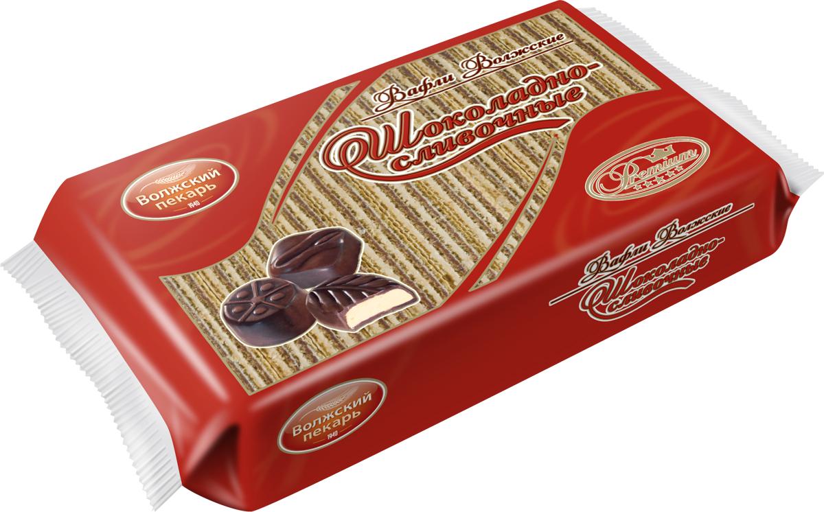 Вафли Волжский пекарь шоколадно-сливочные, 220 г