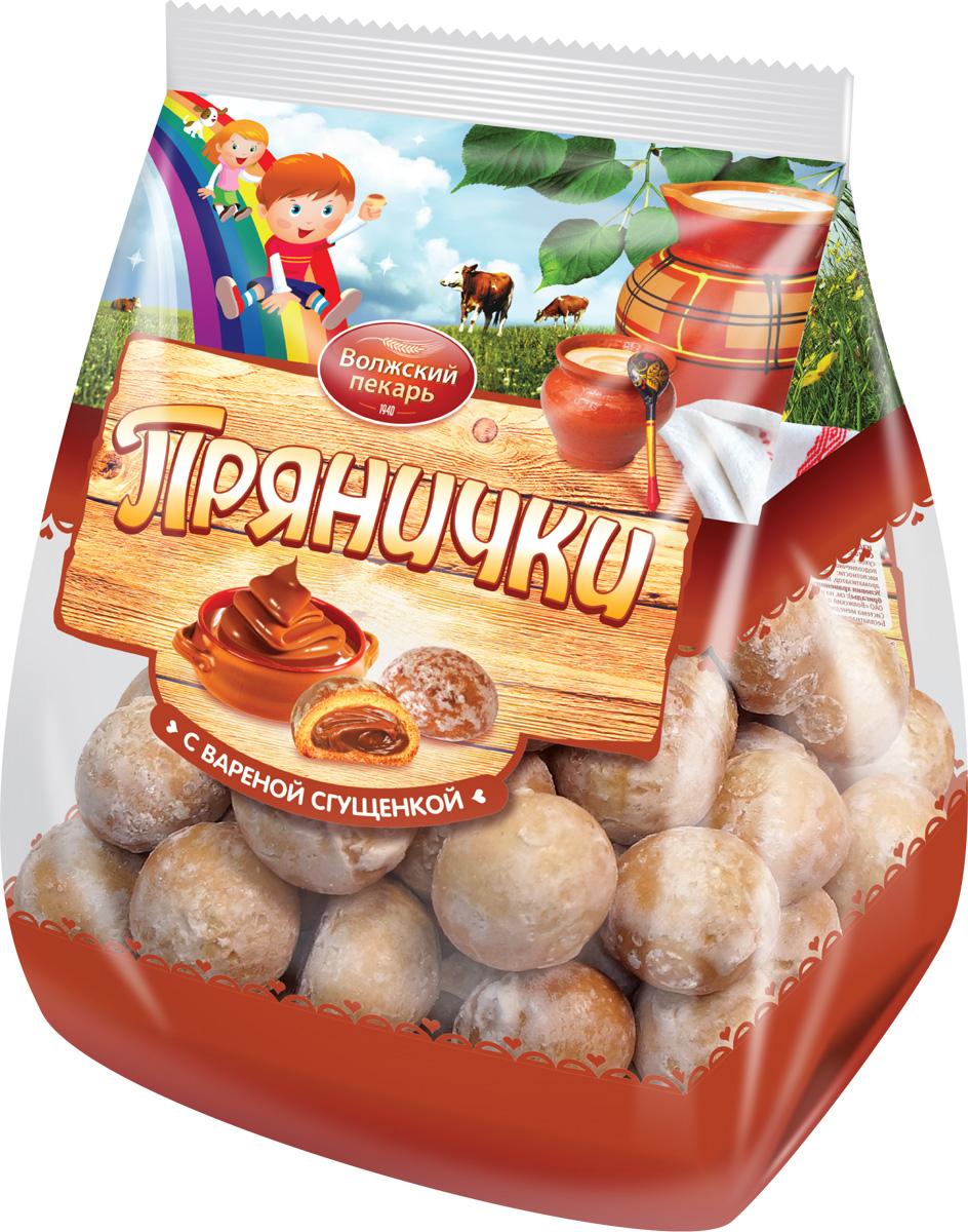 Пряники Волжский пекарь с вареной сгущенкой, 300 г ростагроэкспорт рожок с вареной сгущенкой 8 5% 40 г
