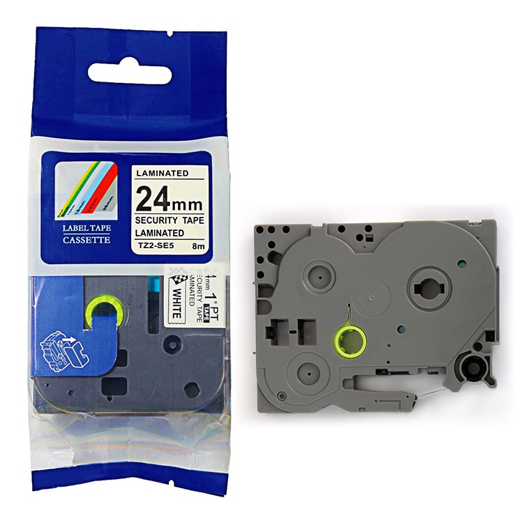 Лента печатающая ДляТахографа TZE-SE5 лента, наклейка, кассета  (пломбировочная,саморазрушаемая) для Brother PT D450/D600/E300/2700/ P700/P750/E550/9700/P900/2430 (5011)