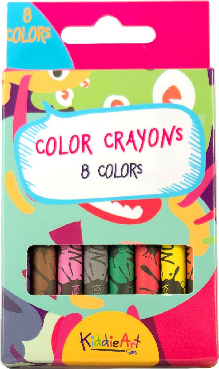 Набор для рисования KiddieArt 8 восковых мелков, 4400 набор восковых мелков crayola ароматизированные