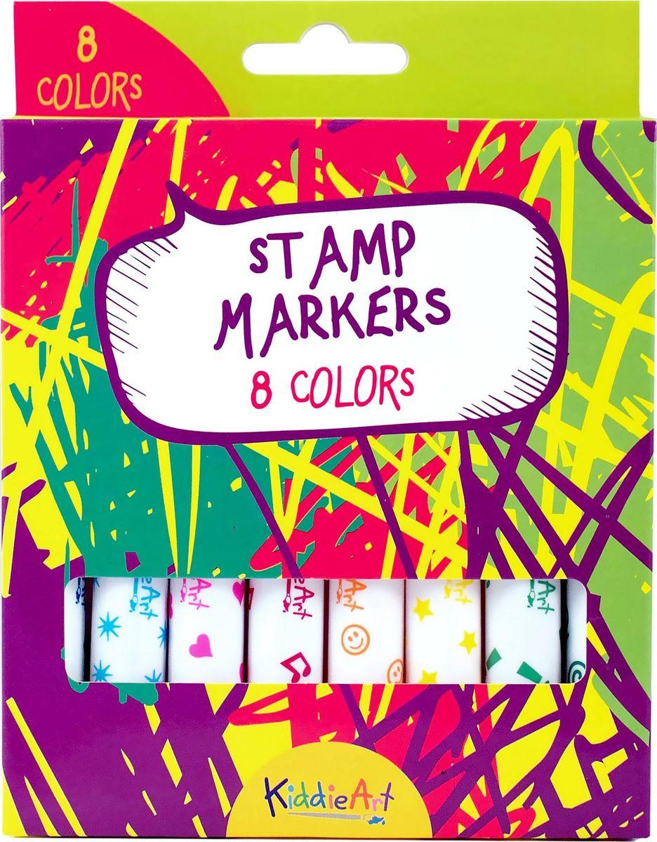 Набор для рисования KiddieArt 8 маркеров-штампиков, 4412