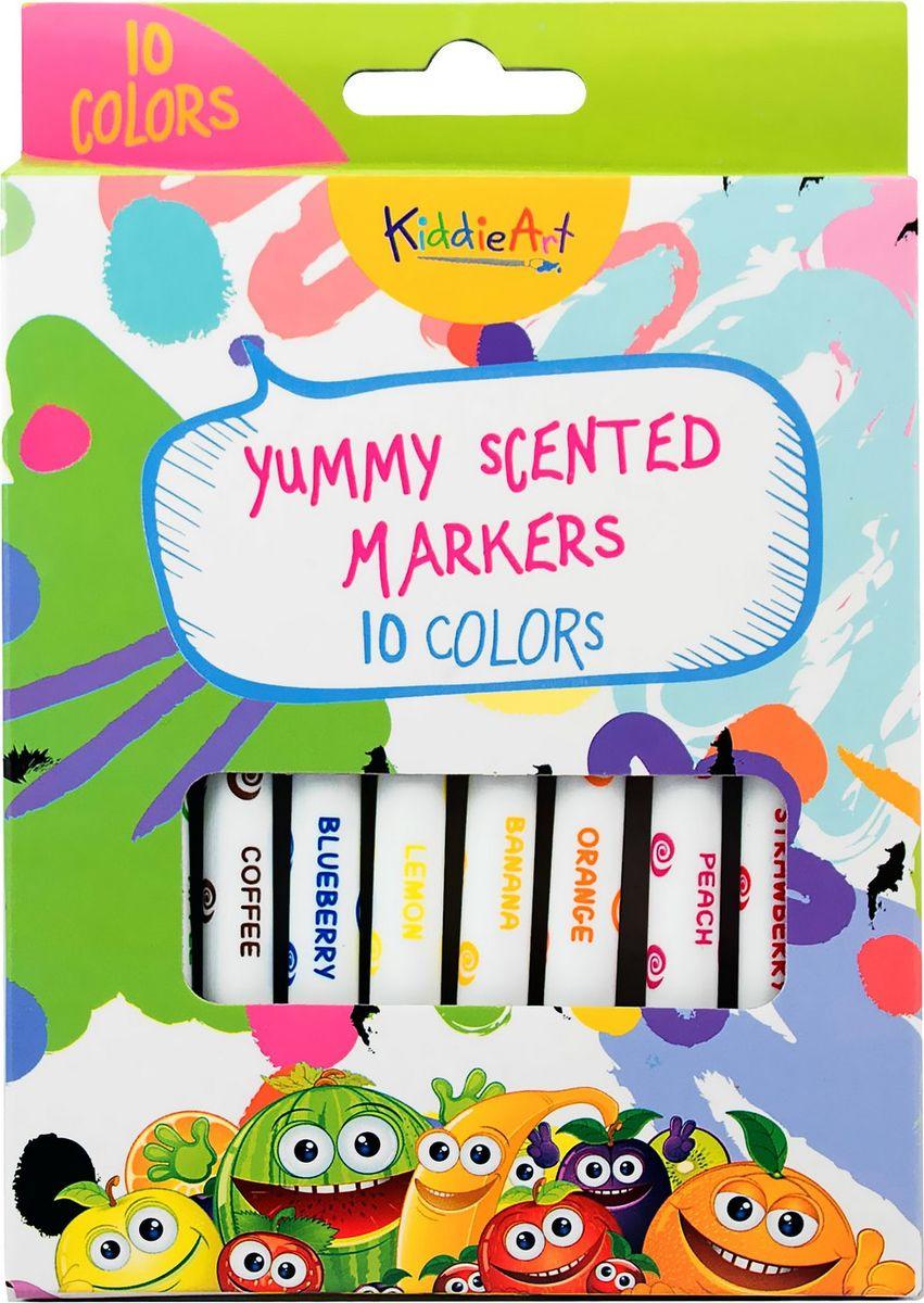 Набор для рисования KiddieArt 10 цветных ароматизированных фломастеров, 4409