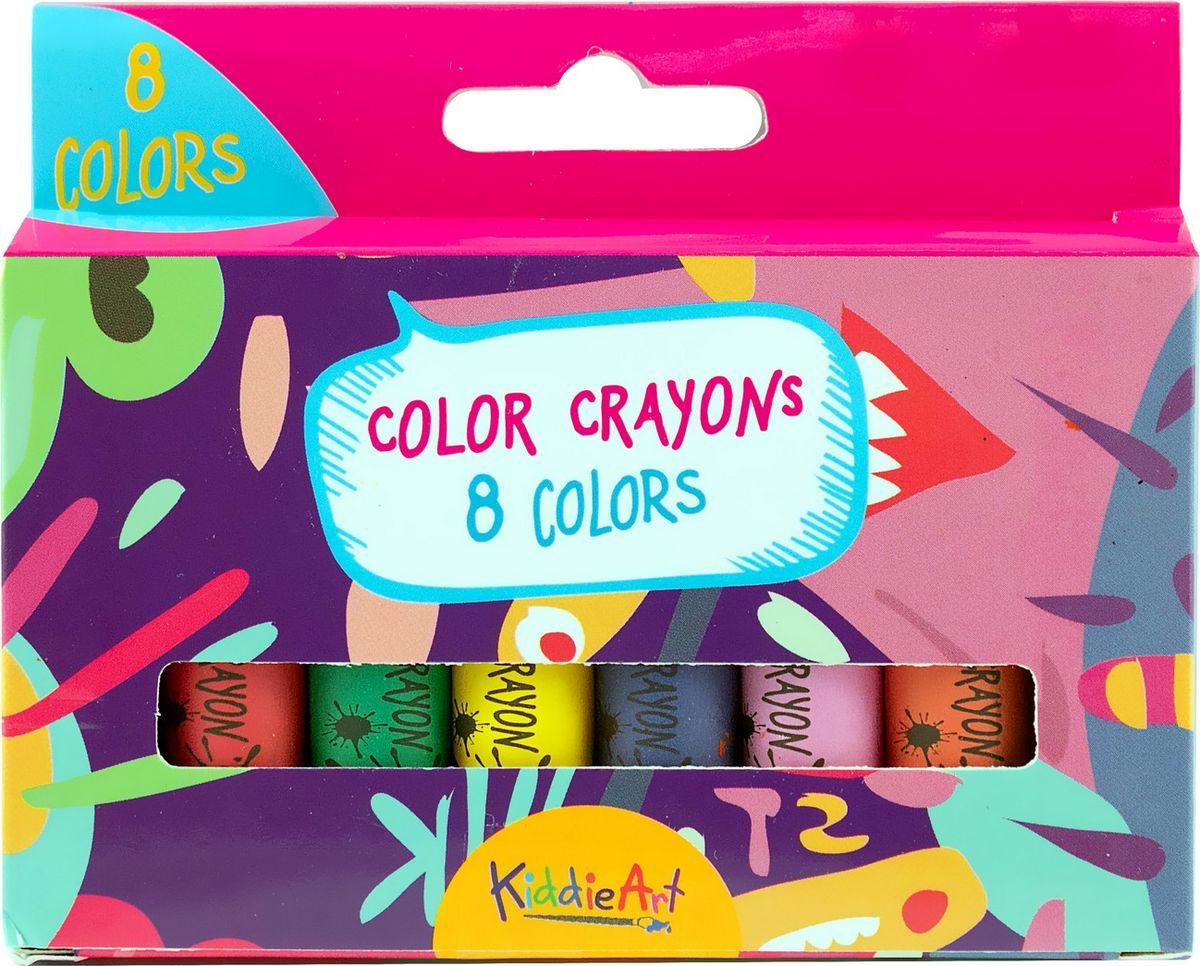 Набор для рисования KiddieArt 8 толстых восковых мелков, 4402 carioca набор смываемых восковых карандашей baby 8 цветов
