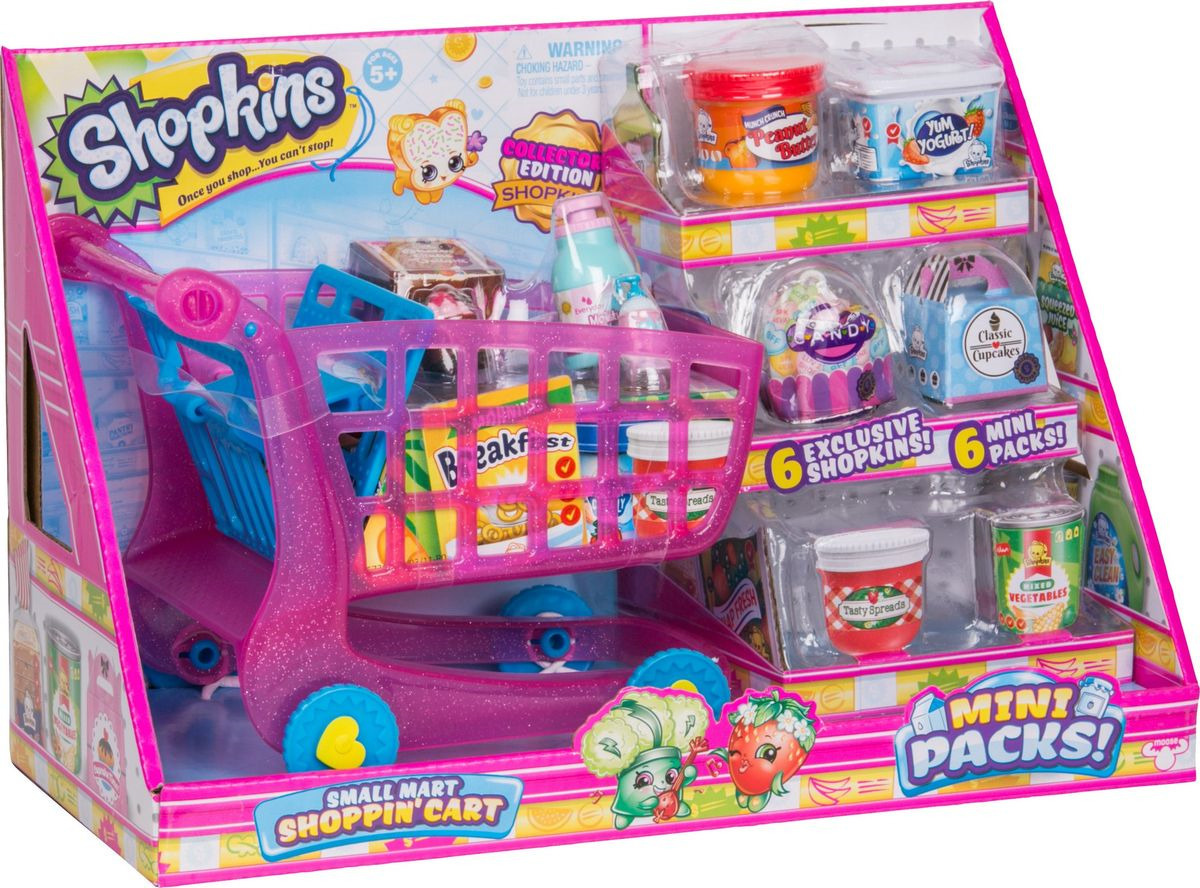 Игровой набор Shopkins Тележка для покупок, 57366 pilsan тележка для покупок sweet