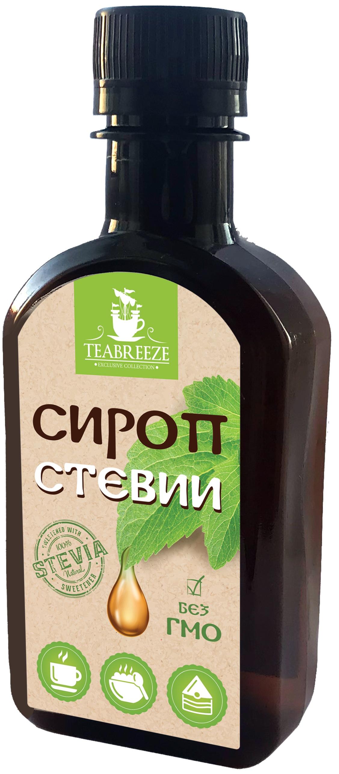 Натуральный заменитель сахара TEABREEZE Сироп Стевии , 200 г. bio tradition стевия натуральный заменитель сахара 30 г