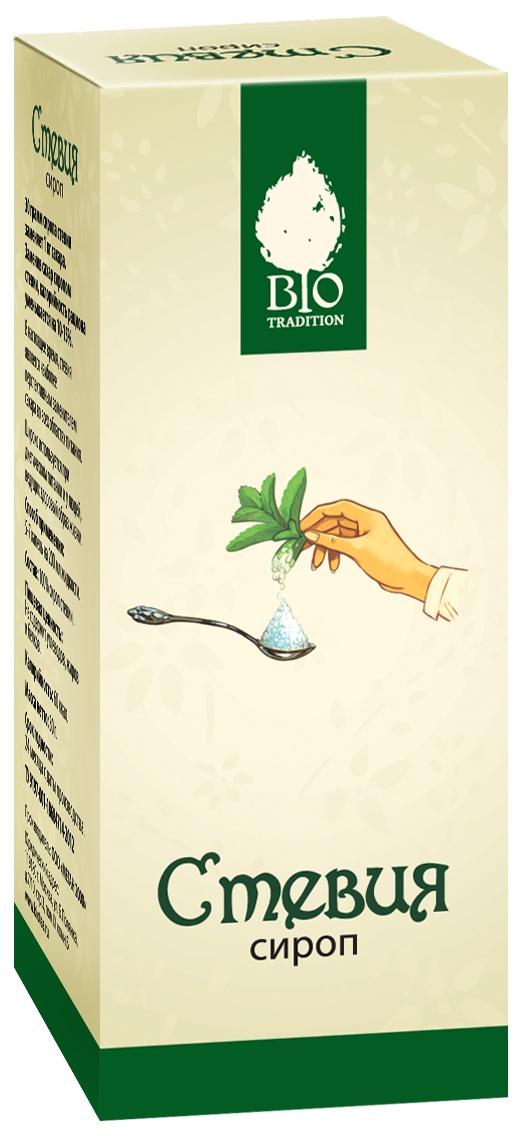 Сахарозаменитель Bio Tradition Стевия Сироп, натуральный заменитель сахара, 30г. bio tradition стевия натуральный заменитель сахара 30 г