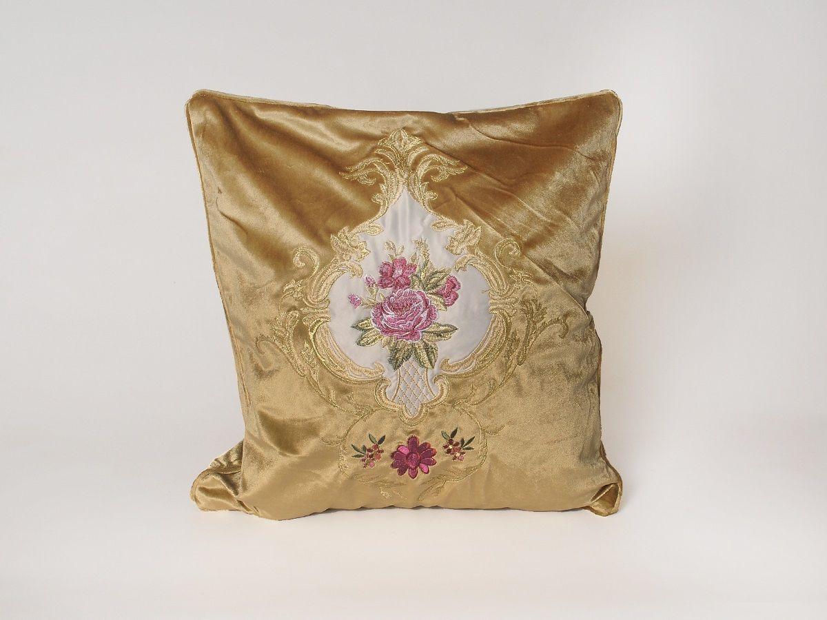 цена на Наволочка декоративная Cleo Грандесса, 45/001-HG, 45х45, золотистый