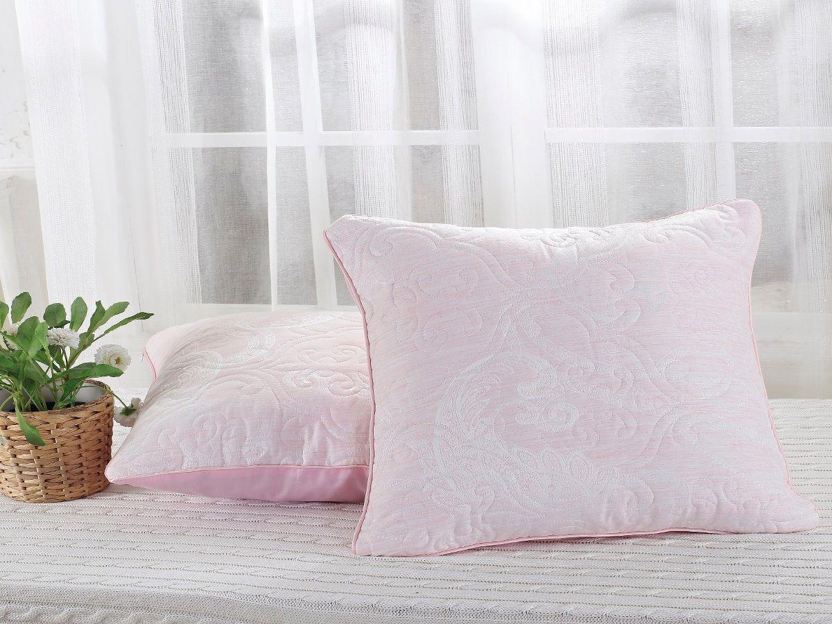 Наволочка декоративная Cleo Виктория, 45/003-VT, 45х45, светло-розовый декоративные подушки tango декоративная наволочка emily 45х45