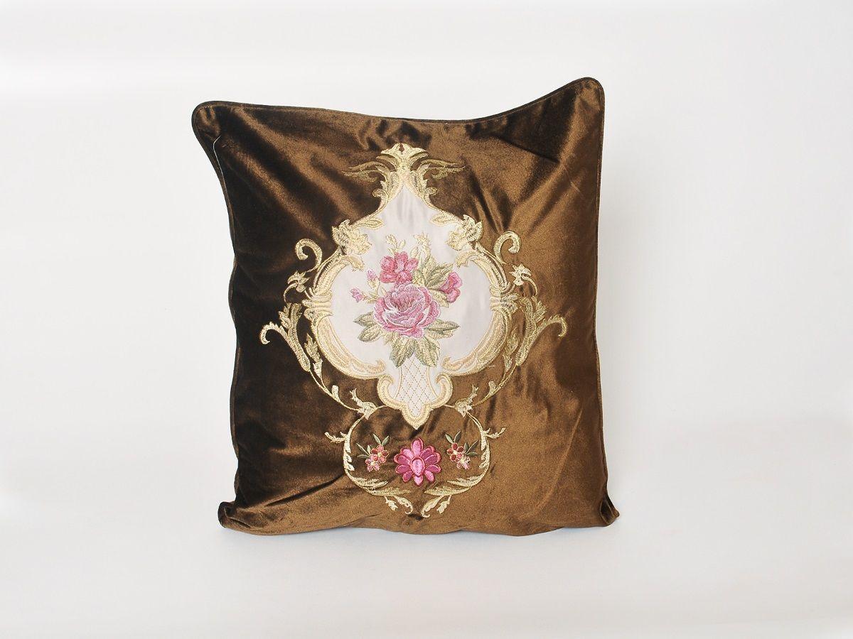 цена на Наволочка декоративная Cleo Грандесса, 45/002-HG, 45х45, коричневый