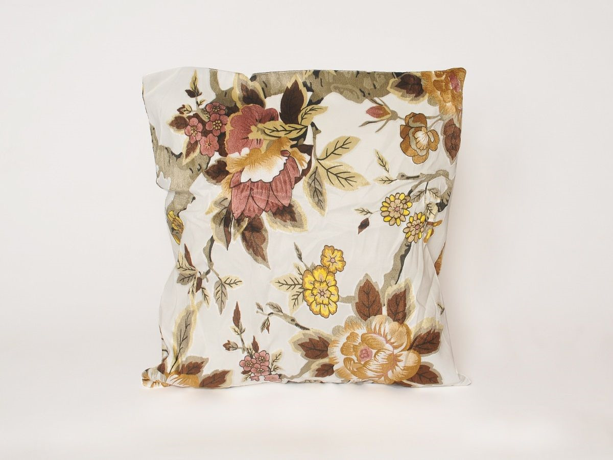 Наволочка декоративная Cleo Арабеска, 55/001-HR, 55х55, бежевый, коричневый