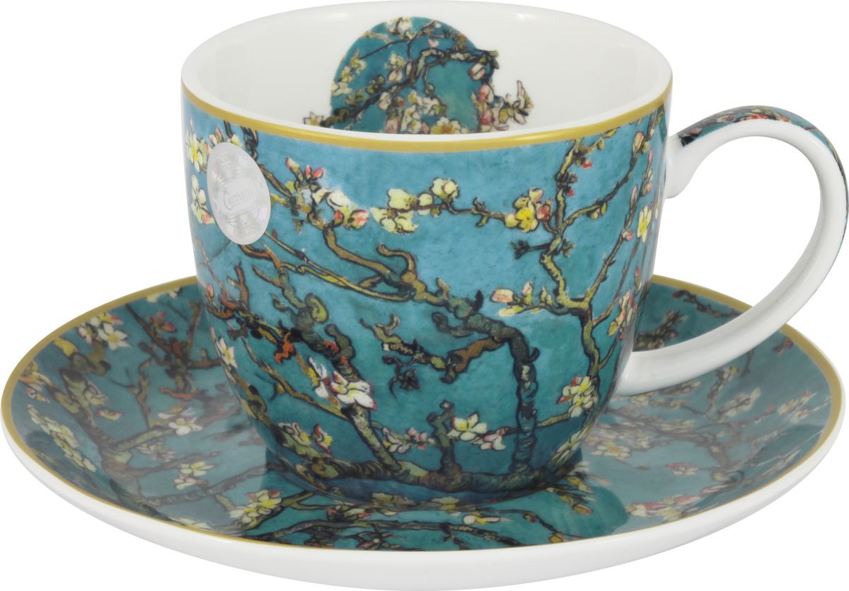 Чайная пара Carmani В. ван Гог Цветущий миндаль, CAR2-830-0208, бирюзовый, 250 мл