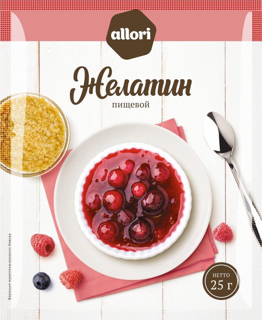 Желатин пищевой ГОСТ Allori Приправа по нраву, 25 г ванилин allori приправа по нраву 1 г