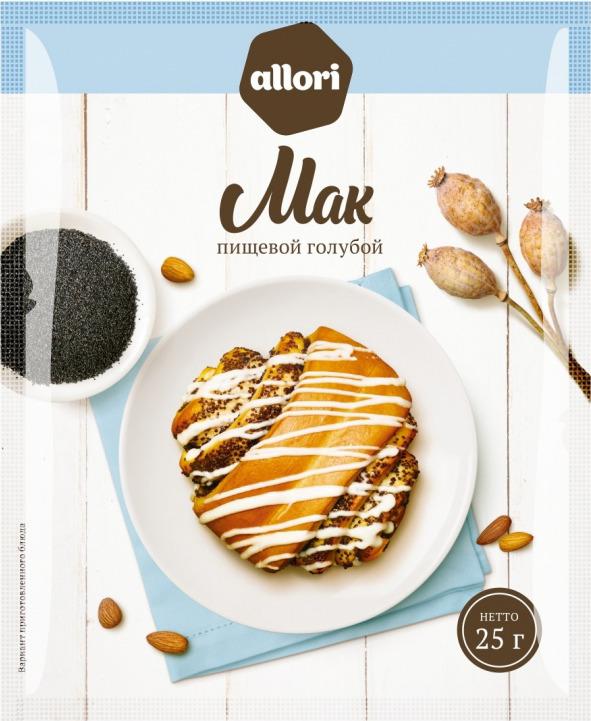 Мак пищевой ГОСТ Allori Приправа по нраву, 25 г ванилин allori приправа по нраву 1 г