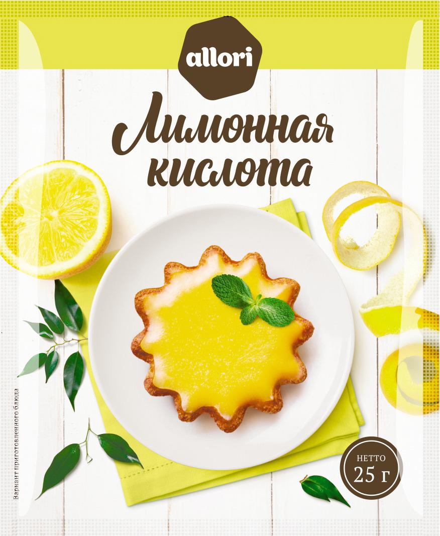 Лимонная кислота ГОСТ Allori Приправа по нраву, 25 г