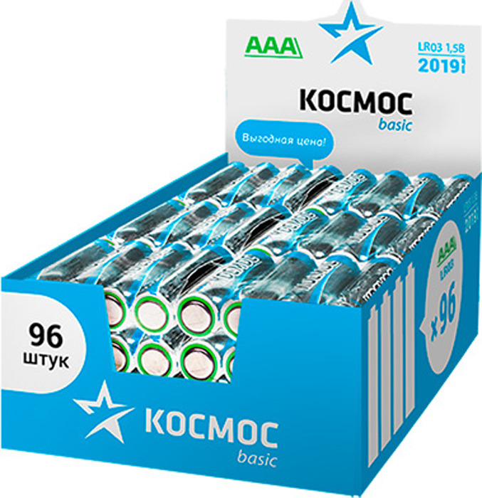 Набор алкалиновых батареек KOSMOS, тип LR03 (ААА), 96 шт цена