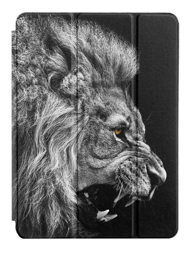 "Чехол для планшета UVOO Art Tab ""Белый Лев"" для Apple iPad 9,7, черный"