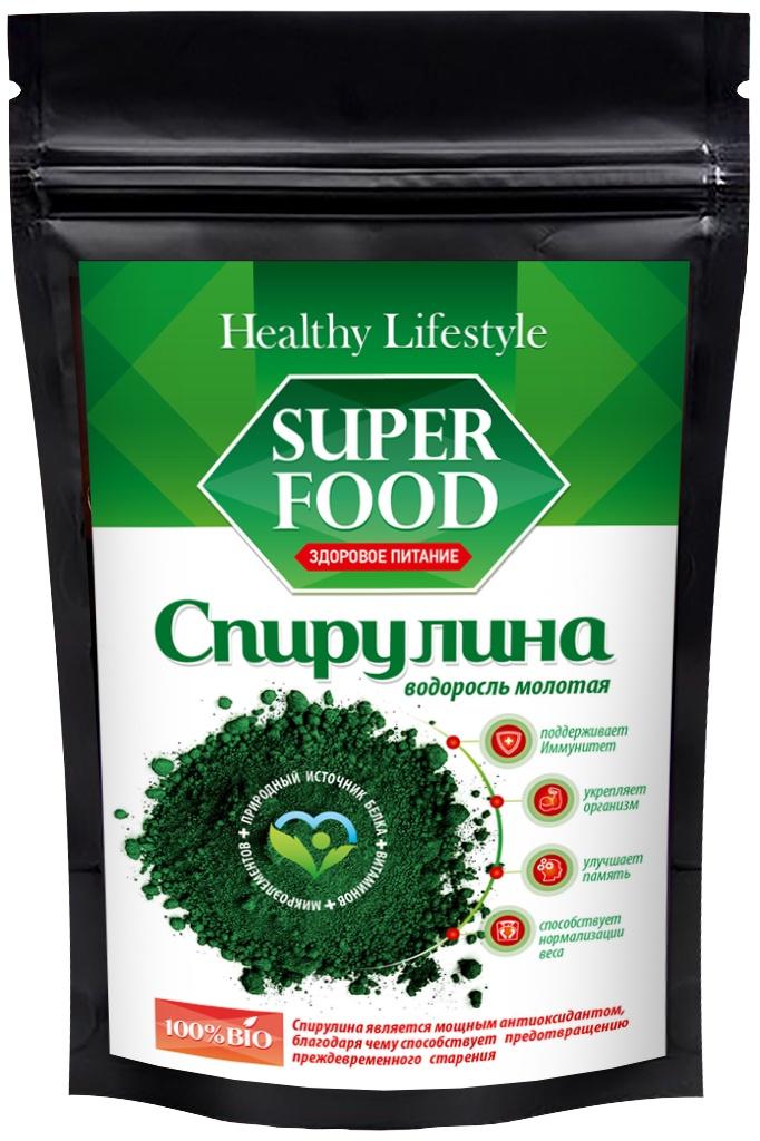 Суперфудс Healthy Lifestyle Спирулина молотая в пакете зип-лок, 200HL 7013-200Спирулина – это цианобактерия (сине-зеленая водоросль). Спирулина - является природным источником белка, витаминов, микроэлементов. Укрепляет организм, улучшает память, способствует нормализации веса, а так же является мощным антиоксидантом и предотвращает преждевременное старение. По содержанию витаминов и микроэлеметов Спирулина превосходит многие продукты питания, как растительного, так и животного происхождения. Богата белком (в три раза больше, чем в говядине и рыбе). Химический состав спирулины насчитывает более 2000 компонентов. Среди них: 18 аминокислот (8 незаменимых), полиненасыщенные жирные кислоты, микро- и макроэлементы (Fe, Ca, Cu, Mg, Zn, P, Se), витамины (А, С, Е, К, РР, группа В, холин, Е (токоферол), растительные пигменты (хлорофилл, каротиноиды и фикоцианин), нуклеиновые кислоты (ДНК, РНК), а также более 2000 ферментов в микродозах.* Спирулина богата витамином В12. В 1 грамме Спирулины витамина В12 в усвояемой форме содержится больше, чем в 100 граммах говядины высшей категории. Аминокислоты (на 100 г): Валин – 6,0 г, Изолейцин – 4,13 г, Лейцин – 5,8 г, Лизин – 4,0 г, Метионин – 2,17 г, Цистин – 0,67 г, Треонин – 4,17 г, Триптофан – 1,13 г, Фенилаланин – 3,95 г, Тирозин – 4,6 г, Аланин – 5,82 г, Аргинин – 5,98 г, Аспарагиновая кислота – 6,43 г, Гистидин – 1,08 г, Глицин – 3,46 г, Глутаминовая кислота – 8,94 г, Серин – 4,0 г, Пролин – 2,97 г. Витамины (на 100 г): В1 – 55,0 мг, В2 – 40 мг, В3 – 207,0 мг, Кальция пантотенат – 11,0 мг, В6 – 3,0 мг, Е – 190,0 мг...
