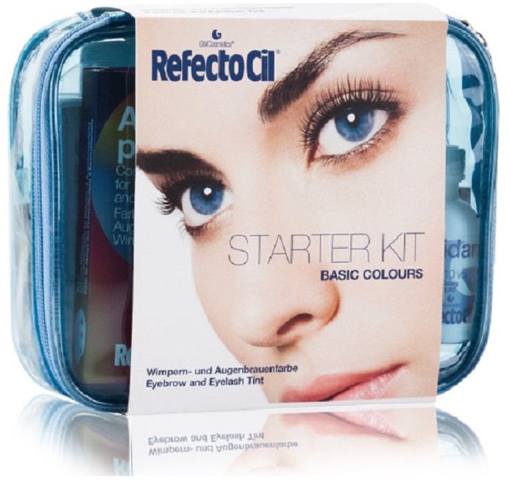 Краска для бровей REFECTOCIL универсальный набор для окрашивания бровей и ресниц basic colours 6*15+100+75+150+150 мл refectocil жидкость для снятия краски 100 мл