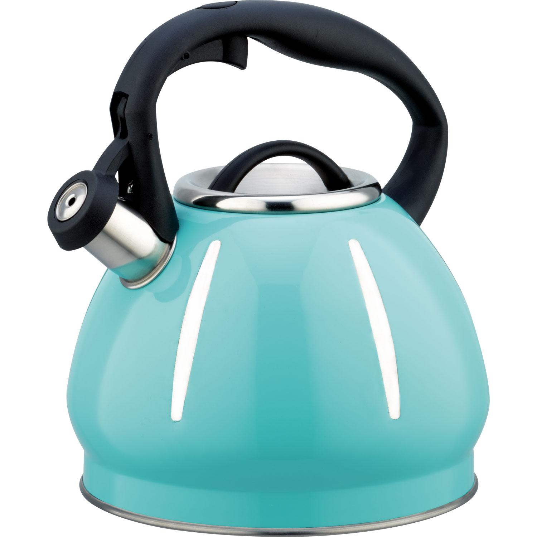 Чайник мет. со свистком BH - 9913 BLUE/3,0л/ (х12) чайник со свистком bayerhoff bh 425