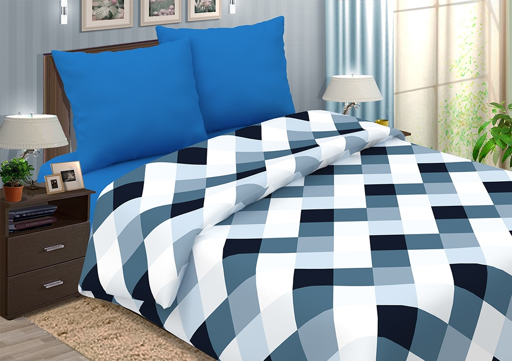 Комплект постельного белья ТК Традиция Pastel, для сна и отдыха, 1203/Арманд синий, синий