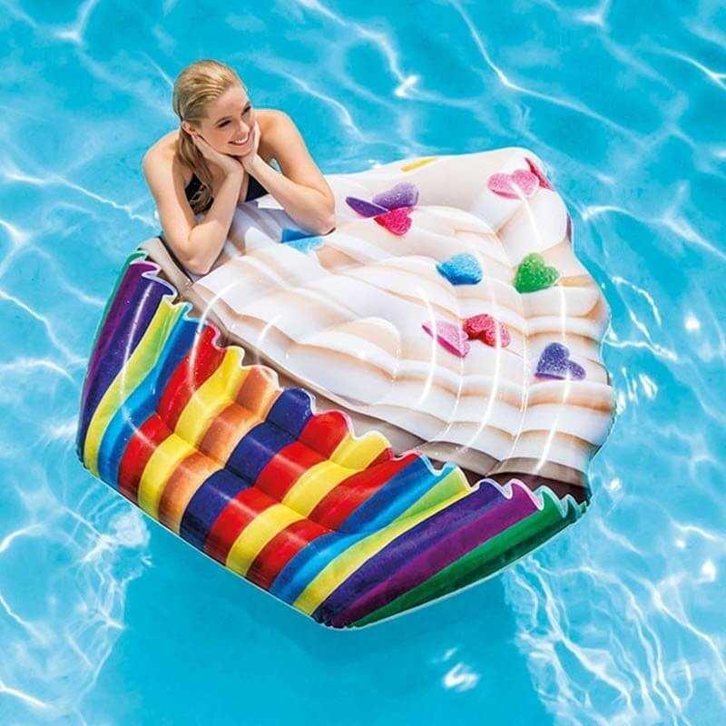 Матрас надувной для плавания Intex 58770EU Возраст от 6 лет, красный, синий, зеленый, желтый intex надувной матрас для плавания винил 118х60см hello kitty 132852