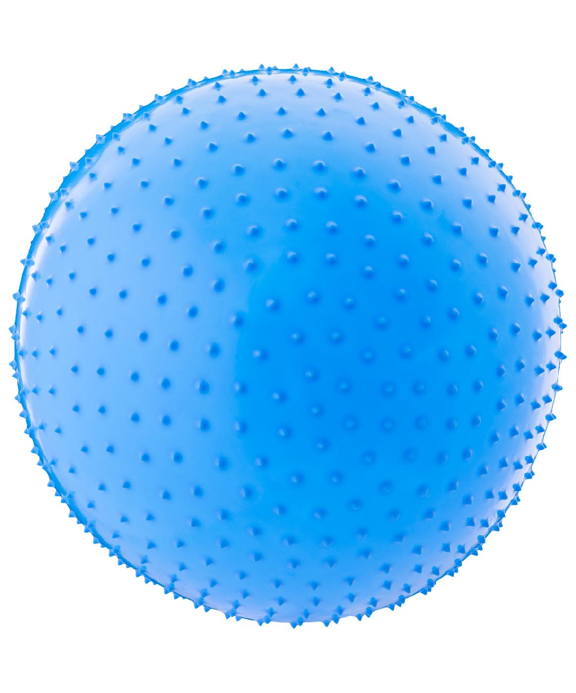 Мяч гимнастический массажный Starfit GB-301 55 см, антивзрыв, синий starfit мяч гимнастический массажный gb 301 65 см фиолетовый антивзрыв