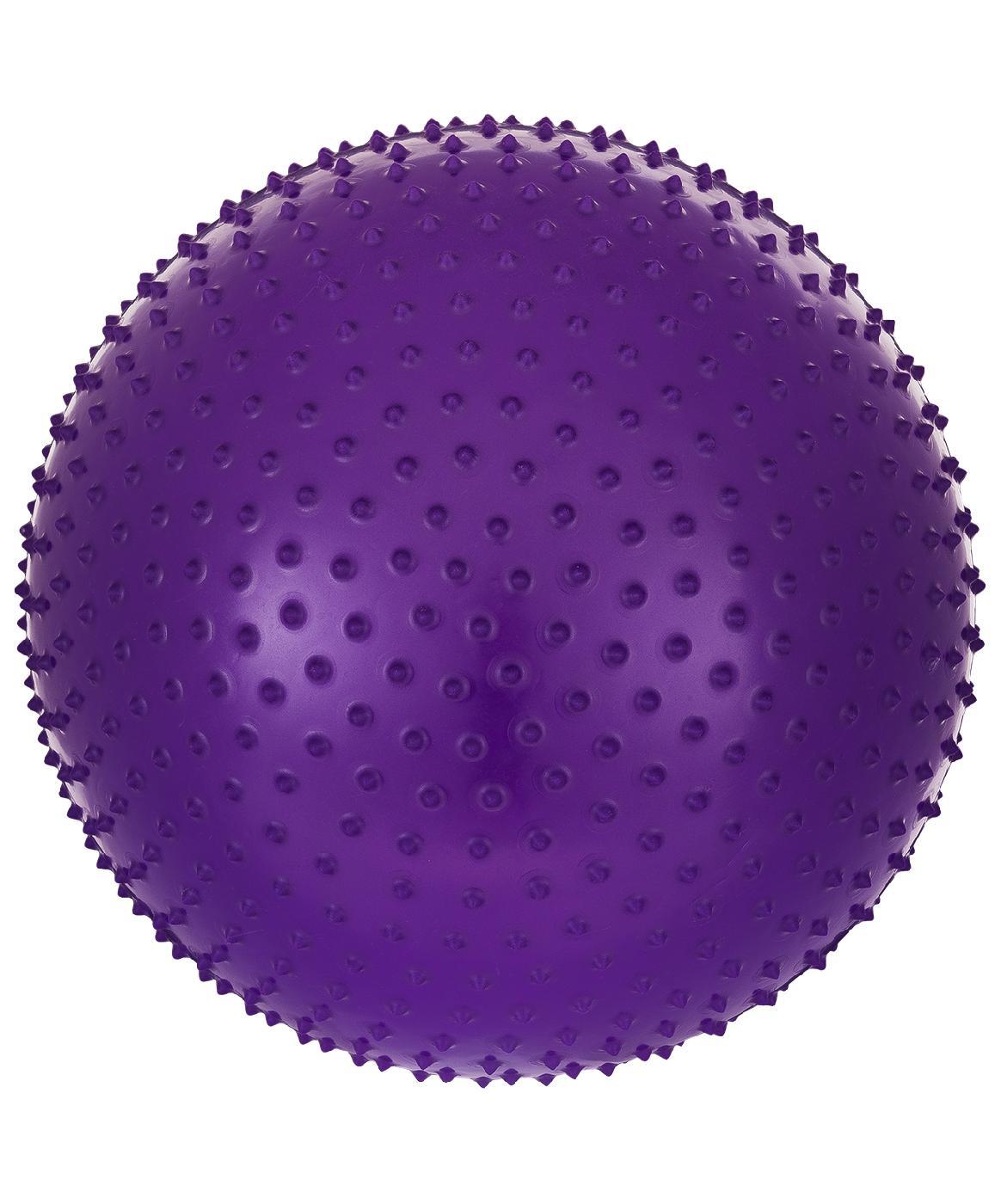 Мяч для фитнеса Starfit Мяч гимнастический массажный GB-301 55 см, антивзрыв, фиолетовый мяч гимнастический starfit антивзрыв gb 101 фиолетовый 85 см