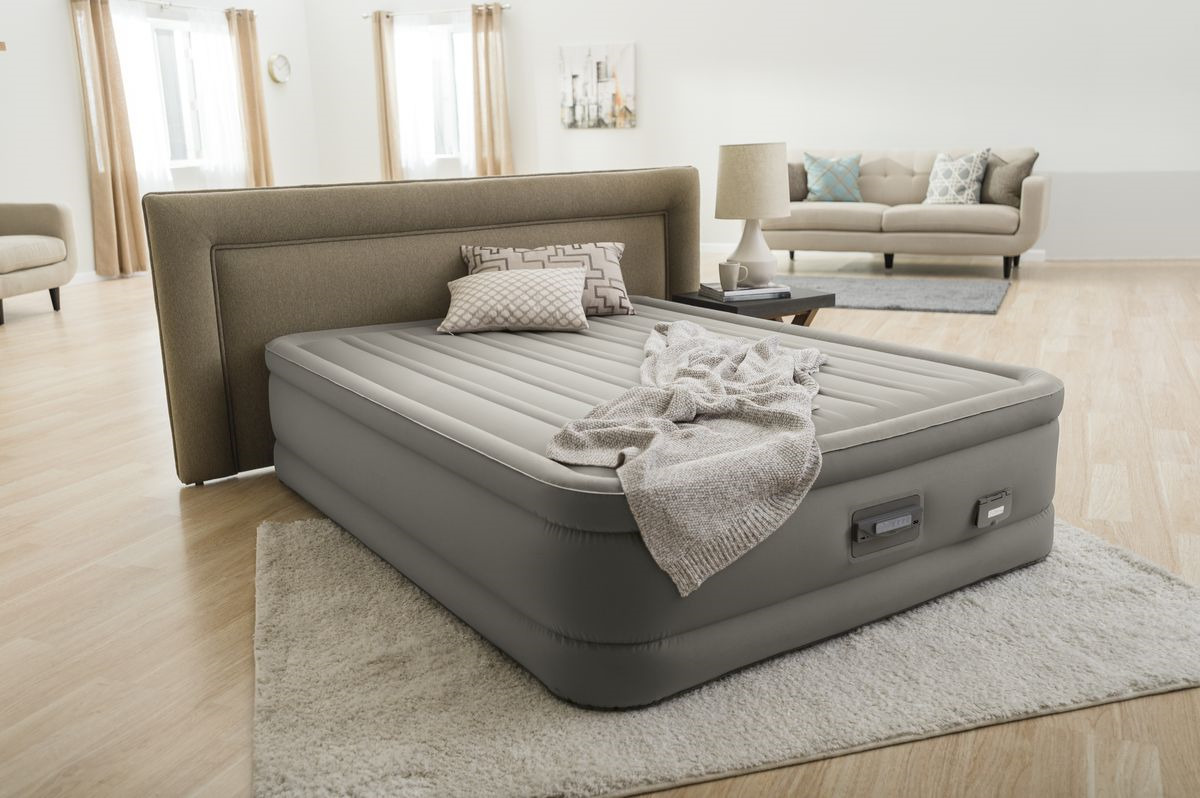 Матрас надувной Intex, с64770, со встроенным электронасосом, 152 х 203 х 46 см