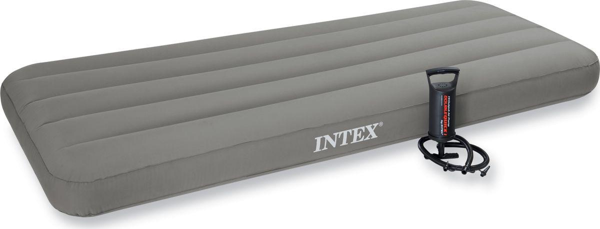 Кровать надувная Intex, с69710, с ручным насосом, 99 х 191 х 47 см