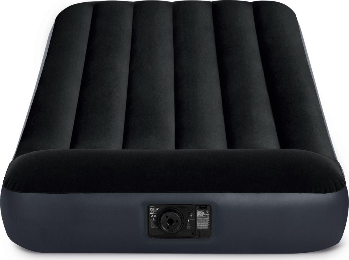 Кровать надувная Intex, с64146, со встроенным насосом 220-240V, 99 х 191 х 25 см