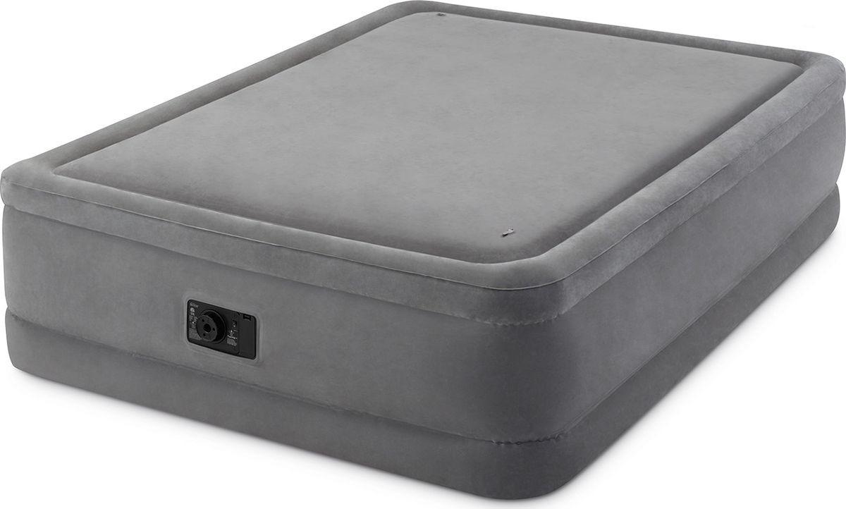 Кровать надувная Intex, с64470, двуспальная, со встроенным насосом, 152 х 203 х 51 см кровать надувная intex с64118 двуспальная со встроенным электронасосом 152 х 203 х 30 см