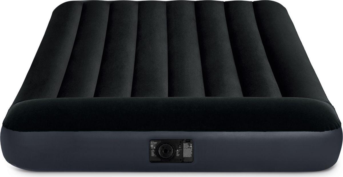 Кровать надувная Intex, с64148, с подголовником и встроенным насосом, 137 х 191 х 25 см
