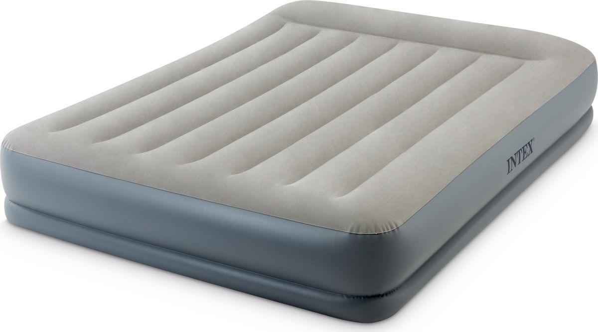 Кровать надувная Intex, с64118, двуспальная, со встроенным электронасосом, 152 х 203 х 30 см